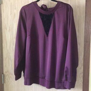 🌻Plus sized purple long sleeve shirt